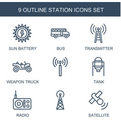 Station icons vector