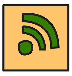 Unusual look wifi signal vector