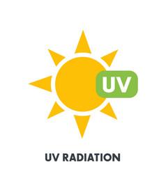 Uv radiation sign vector