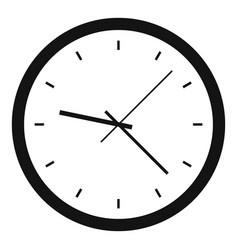 wall clock icon simple style vector image