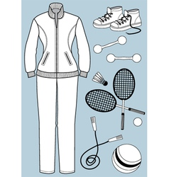Womam clothes and equipment vector