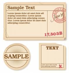 Antique labels vector
