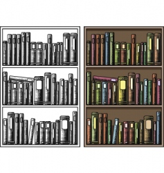 bookcase vector image vector image