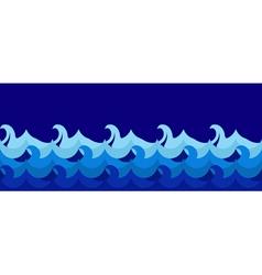 Cartoon seamless waves vector image vector image
