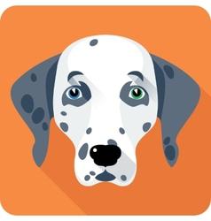 dog Dalmatian icon flat design vector image vector image