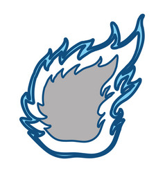 Fire burn silhouette vector