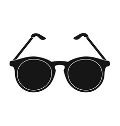 glasses for sightold age single icon in black vector image