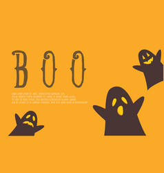 halloween background with cute ghost vector image