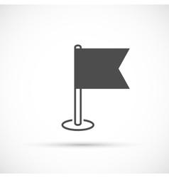 Navigation flag basic icon vector image