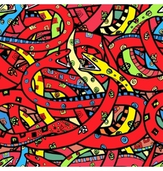 pattern of snakes vector image