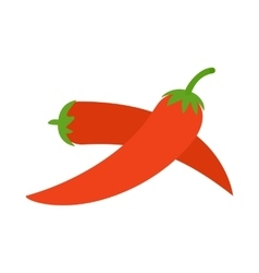 Two red hot chili pepper icon isometric 3d style vector image vector image