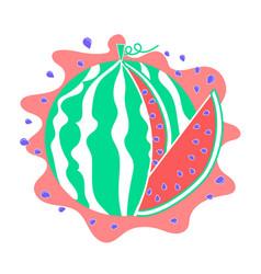 Watermelon icon piece vector