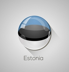 European flags set - estonia vector