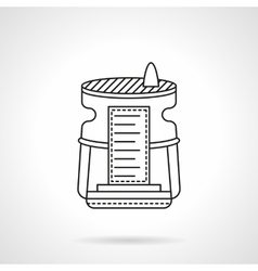 Humidifier device flat line icon vector