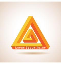 Impossible triangles vector image vector image