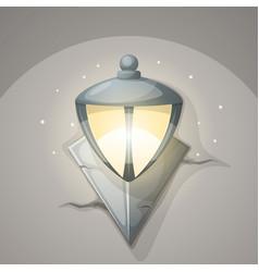 lamp wall cartoon vector image