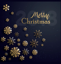 merry christmas 2018 vector image