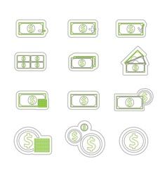 money icon duoton vector image vector image