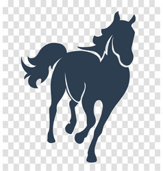 silhouette horse black vector image vector image