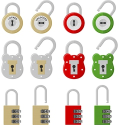 twelve padlocks vector image vector image