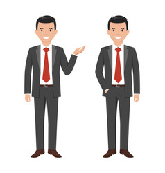 a young cartoon style smiling businessman vector image