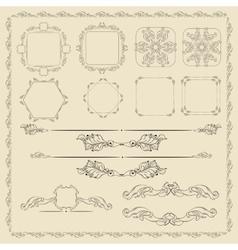 Decorative design elements set vector image vector image