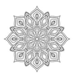 Hand drawn zentangle mandala vector image