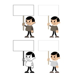 men with blank sign vector image vector image