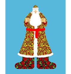 Russian Santa Claus Grandfather Frost Cloak in vector image vector image