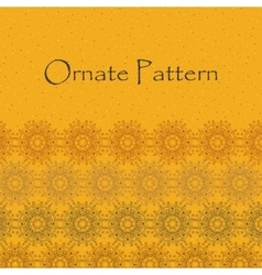 Ornate pattern with guilloche vector image