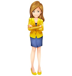 A businesswoman standing vector image