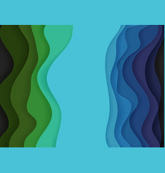 abstract background of color waves vector image