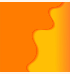 abstract background with orange waves vector image