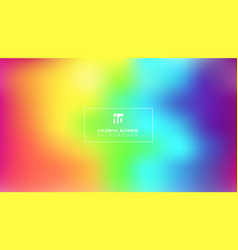 Abstract bright rainbow color smooth blurred vector