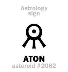 Astrology asteroid aton vector