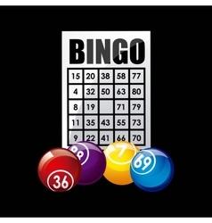 bingo casino game icon vector image