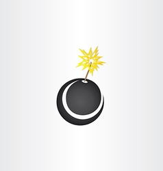 black bomb explosion icon vector image