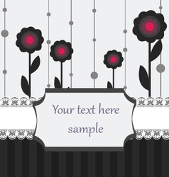 black white and pink card vector image