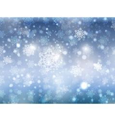 Blue christmas snowflakes 2008 vector