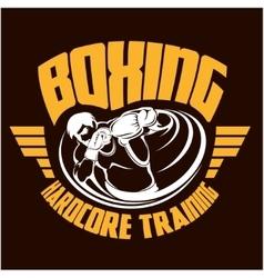 Boxing Print vector