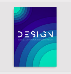 Brochure cover geometric design a4 size template vector