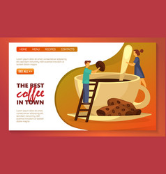 Cafe coffee bar and coffeehouse site web banner vector