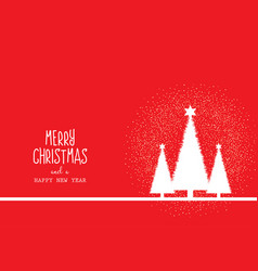 christmas background with trees and decorative vector image