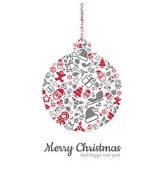Christmas ball and icon vector image