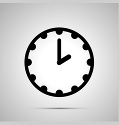 clock face showing 2-00 simple black icon on vector image
