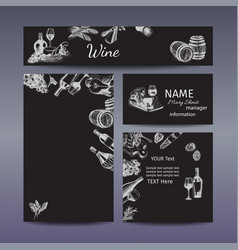 Corporate style - wine and cheese vector