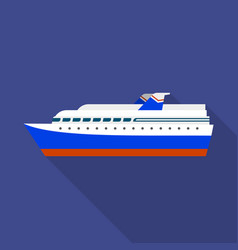 Cruise liner ship icon flat style vector