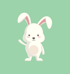 Cute cartoon rabbit with standing pose vector