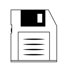 Diskette or floppy disk icon image vector