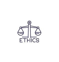 ethics line icon vector image